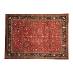1800-Get-A-Rug - Fine Sarouk 300 kpsi New Zealand Wool Hand Knotted Oriental Rug Sh16328 - Our fine Oriental hand knotted rug collection consists of 100% genuine, hand-knotted and hand-woven rugs from Persia, China, and other areas throughout Asia. Classic, traditional, and offered in a wide range of elaborate designs, every rug is guaranteed to serve as a beautiful and striking element in any interior setting.
