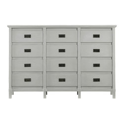 Stanley Furniture - Coastal Living Resort Haven's Harbor Dresser - Calling to mind the economy and ingenuity of ship's quarters, our Haven's Harbor Dresser has a precision of style that is not often found in modern furnishings. Proud drawer fronts lend the three columns of four drawers dimension and personality. In all, a trim and seaworthy design that would be comfortable in any environment. Twelve drawers. Made to order in America.