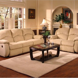 Recline Designs - Gabriella Double Reclining Sofa with Loveseat - 705-31-21 - Set Includes Double Reclining Sofa with Loveseat