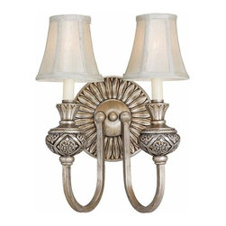 Sea Gull Lighting - Highlands Palladium Two-Light Wall Sconce - - Height from the center of the outlet box 8 Sea Gull Lighting - 42251-824