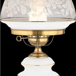 Quoizel Lighting - Quoizel Lighting SL702G Renaissance Accent Table Lamp With Hurricane Glass - For over seventy years, Quoizel lighting has been dedicated to the design and production of its diversified line of fine lighting products and home accessories.