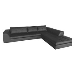 Moe's Home Collection - Moe's Home Sulla Right Sectional in Grey - Contemporary / modern sofa sectional.