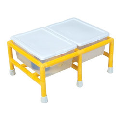 Childrens Factory - Children's Factory Mini Sensory Table Multicolor - CF905-134 - Shop for Sand and Water Toys from Hayneedle.com! Two tubs (16L x 11.5W x 6.75H inches) with lids are included with the Children's Factory Mini Double Discovery Low-Profile Table. These tubs are ideal for allowing a child to explore sand water rice or grains. The table comes in a choice of sizes. It is grounded with safe anti-slip rubber floor protectors and has a one-year warranty.Children's Factory manufactures all items using only the best materials available. It ensures that all materials contain no latex lead cadmium or other soluble substances. All materials meet the California TB117 standards for fire retardancy.
