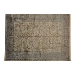 Silver Wash 9'x12' Oushak Bamboo Silk Hand Knotted Oriental Rug SH16858 - Hand Knotted Oushak & Peshawar Rugs are highly demanded by interior designers.  They are known for their soft & subtle appearance.  They are composed of 100% hand spun wool as well as natural & vegetable dyes. The whole color concept of these rugs is earth tones.