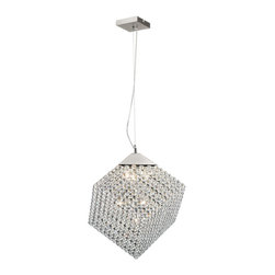 Trans Globe - Trans Globe 7 Light Pendant in Polished Chrome - Details: