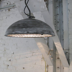 Shaw Collection Pendant - Love anything with an industrial edge and that patina is wonderful. I could see two of these over an island or a single one hanging in a mudroom.