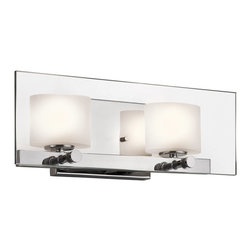 Kichler Lighting - Kichler Lighting Como Modern / Contemporary Wall Sconce X-HC17154 - This versatile 2 light halogen wall fixture from the Como&trade: collection leaves a soft, subtle impression. The clean detailing, Polished Chrome finish, Clear Glass Paneling and Etched Glass Shades creates a delicate, luminous accent for any space.