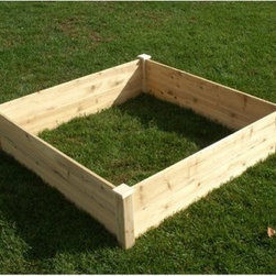 Eden Raised Garden Bed - Square - 4 x 4 ft. - This Eden Raised Garden Bed - 4 x 4 ft. helps you create a tidy garden. Attractive and functional, raised gardens are a smart alternative to traditional in-ground gardens. With a raised garden bed there are fewer weeds, better water retention, and 100% control of the soil your crops are grow in. This raised garden bed assembles in minutes without the need for tools. It offers 16 square feet of high-yield growing bed and has taller sides for deeper planting growth. This raised garden bed is constructed of rot-resistant solid fir wood. It may be painted or stained to match your surroundings. The natural color may also be protected with a clear coat of polyurethane or leave it bare to silver naturally over time. Fir wood is conveniently bio-degradable. About RiverstoneWorking from the motto, Green Products for a Brighter Future, Riverstone Industries was born from the desire to bring products that were good for the environment to the mass markets. Their mission is to solve problems through innovation and function while keeping value and customer service at the forefront of their thinking. Riverstone prides themselves on offering innovative improvements to existing products currently found in the marketplace. Riverstone has maintained a position of outstanding quality and customer satisfaction through the years, ensuring their growth and expanding their current stature.