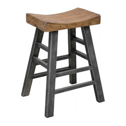 Classic Home Furniture - Morella Square Bar Stool - 53003518 - Morella Collection Bar Stool