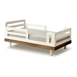 Oeuf Classic Toddler Bed, Walnut - If you prefer a modern, minimalist style, then this toddler bed is for you. With clean lines, this European-made bed is both functional and stylish.