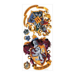 RoomMates Peel & Stick - Hogwarts Crest Giant Wall Decal - Harry Potter fans-this one is for you! Show you're a member of the Hogwarts School of Witchcraft and Wizardry with this peel and stick crest. Featuring detailed, accurate art, this giant wall decal is the perfect touch for any Harry Potter-themed room. Applying is easy: just peel and stick! You can move or remove the decal at any time, and all with no damage to the surface.