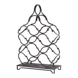 Cyan Design - Waving Wine Rack - Waving wine rack - ebony