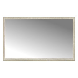 """Posters 2 Prints, LLC - 71"""" x 43"""" Libretto Antique Silver Custom Framed Mirror - 71"""" x 43"""" Custom Framed Mirror made by Posters 2 Prints. Standard glass with unrivaled selection of crafted mirror frames.  Protected with category II safety backing to keep glass fragments together should the mirror be accidentally broken.  Safe arrival guaranteed.  Made in the United States of America"""