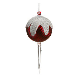 Silk Plants Direct - Silk Plants Direct Iced Glass Finial Ornament (Pack of 6) - Pack of 6. Silk Plants Direct specializes in manufacturing, design and supply of the most life-like, premium quality artificial plants, trees, flowers, arrangements, topiaries and containers for home, office and commercial use. Our Iced Glass Finial Ornament includes the following: