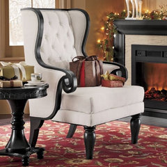 eclectic armchairs by Through the Country Door