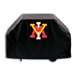 """Holland Bar Stool - Holland Bar Stool GC-VAMilI Virginia Military Institute Grill Cover - GC-VAMilI Virginia Military Institute Grill Cover belongs to College Collection by Holland Bar Stool This Virginia Military Institute grill cover by HBS is hand-made in the USA; using the finest commercial grade vinyl and utilizing a step-by-step screen print process to give you the most detailed logo possible. UV resistant inks are used to ensure exeptional durablilty to direct sun exposure. This product is Officially Licensed, so you can show your pride while protecting your grill from the elements of nature. Keep your grill protected and support your team with the help of Covers by HBS!"""" Grill Cover (1)"""