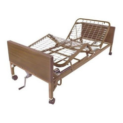 Drive Medical Semi Electric Bed with Rails and Mattress