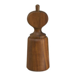 Jesper Salt and Pepper Mill from Crate and Barrel - There are three sculptural teak salt and pepper mills at Crate and Barrel that carry on the unique Dansk Scandanavian mid-century style. No one will want to stash these behind closed doors; they'll sit out on the table 24/7.
