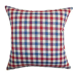 The Pillow Collection - Manteo Blue 18 x 18 Plaid Throw Pillow - - Pillows have hidden zippers for easy removal and cleaning  - Reversible pillow with same fabric on both sides  - Comes standard with a 5/95 feather blend pillow insert  - All four sides have a clean knife-edge finish  - Pillow insert is 19 x 19 to ensure a tight and generous fit  - Cover and insert made in the USA  - Spot clean and Dry cleaning recommended  - Fill Material: 5/95 down feather blend The Pillow Collection - P18-D-32375-AMERICANBEAUTY-C10