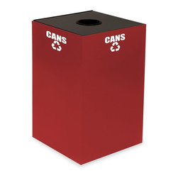Witt Industries - Witt Industries Geo Cubes 24 Gallon Scarlet Recycling Bin Multicolor - 24GC01-SC - Shop for Recycling Bins from Hayneedle.com! Make recycling easy with the Witt Industries Geo Cubes 24 Gallon Scarlett Recycling Bin. The scarlet color is both stylish and bright making it easy to spot while the included decals clearly mark that the bin is for glass or cans. This recycling bin will accommodate paper plastics glass or metals. Just pick the top that works with whatever you have in mind. Compact and fire safe steel construction makes this bin durable and long lasting.About Witt IndustriesWith its rich and established history in the steel waste receptacle manufacturing industry that dates back to 1887 Witt Industries has been in the forefront with its innovation quality and service. The company's founder George Witt invented and patented the first corrugated galvanized ash can and lid back in 1889 and the company has never looked back. Today Witt Industries is part of the Armor Metal Group and is a woman-owned business.