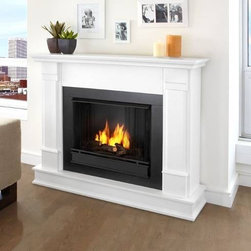 "Real Flame G8600-W Silverton White Ventless Gel Fireplace - Real Flame Silverton Ventless Gel Fireplace, White - G8600-WProduct Features Curl up by the comforting glow of this Real Flame fireplace anywhere in your home. Ideal for living rooms, family rooms or bedrooms, the free-standing Silverton offers clean lines and transitional styling that will add instant ambiance to any home. Available in white, dark mahogany and black. Uses 13 oz. cans of Real Flame Gel Fuel. * Uses Clean Burning Real Flame Gel Fuel Emitting Up To 9,000 Btus Of Heat Per Hour Lasting Up To 3 Hours. * Solid wood and veneered MDF construction. * Fireplace includes wooden mantel, firebox, hand painted cast-concrete log, and screen kit. * Uses Real Flame 13 oz. gel fuel, sold separately. * Assembly Required * Available in White, Dark Mahogany, and Black finishes. * Product Dimension: 41"" H X 48"" W X 13"" DReal Flame: Ventless Gel, fireplaces and accessoriesFor nearly 30 years Real Flame has been the leader in the production and sale of gel-fueled fireplaces and accessories. All of Real Flame products are manufactured to the highest standards and, of course, safety is the top priority in all of the designs.Real Flame Gel Fuel is an exclusive premium alcohol based blend that requires no ventilation when burned. No chimney, no gas hookups and no electricity needed. Makes an ideal addition to any room in all types of homes adding the warmth and ambience of a real fire without the hassle and expense of costly installations.Tested and approved for indoor and outdoor use, Real Flame Gel Fuel meets all clean air requirements established by both OHSA and the EPA.Join the thousands of satisfied customers across the country and begin your own memories from evenings around the fire today."