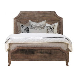 Aria Queen Bed- Reclaimed Wood Bed - Our Aria Collection is constructed from 100% solid hardwoods. NO VENEERS OR PARTICLE BOARDS (MDF) ARE EVER USED! Each piece is hand-finished and sealed with a water-resistant light lacquer. The appearance of finishes, tones, textures and grains will vary slightly from piece to piece due to the nature of the wood and the hand-finish process giving you a truly unique look and style. Natural distress and imperfections highlight the beauty of rustic woods and give each piece a charm of its own. Hardware is as rugged and substantial as it is beautiful and original.