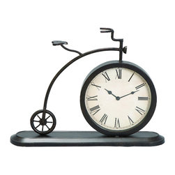 ecWorld - Old Fashioned Tricycle Tabletop and Mantle Accent Clock - The graceful style of this decorative Tricycle Tabletop Accent Clock will send you on a trip down Memory Lane