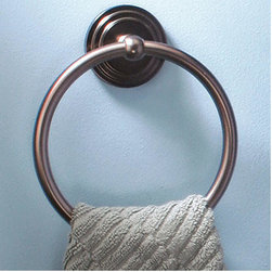 Marina Brass Towel Ring - Hang your towels on this traditionally designed Marina Brass Towel Ring, featuring a lovely tiered design.