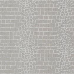 Croc Silver Crocodile Wallpaper. - A crocodile wallpaper with modern glamour in sassy silver.