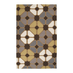 Surya - Transitional Frontier 8'x11' Rectangle Chocolate-Gold  Area Rug - The Frontier area rug Collection offers an affordable assortment of Transitional stylings. Frontier features a blend of natural Chocolate-Gold  color. Handmade of 100% Wool the Frontier Collection is an intriguing compliment to any decor.