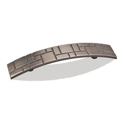"""Hardware Resources - Jeffrey Alexander Breighton Zinc 3-3/4"""" Arch Pull - Bright Nickel Brushed - Length - 6.19 inch, Width - 1.06 inch, Height - 0.94 inch, Center to Center - 3.75 inch, Finish - Bright Nickel Brushed with Dull Lacquer"""