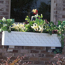 Lattice Window Boxes - At Flower Window Boxes we are helping to transform the window box industry as your affordable no rot solution to window box gardening. Our Lattice window boxes are made from a no rot PVC material that looks, paints, and feels identical to wood. Get the look of wood and avoid all the maintenance. Benefits include: