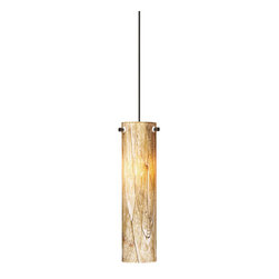 Tech Lighting - Tech Lighting 700MO2SLVACZ MO2Silva Pend cylinder, bz - Blown glass cylinder with unique organic pattern. Includes lowvoltage, 50 watt halogen bipin lamp or 6 watt replaceable LED module and six feet of fieldcuttable suspension cable.