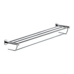 Gedy - Polished Chrome Towel Shelf With Towel Bar - Modern style wall bath towel shelf with bar.