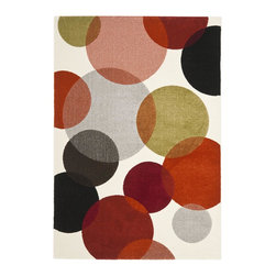 "Safavieh - Porcello Brown/Multi Area Rug PRL3704A - 2'4"" x 6'7"" - Fun colors and fetching flower-petal floral designs give this rug a creative style that's sure to bring life to any room. Soft Synthetic fibers provide a dense pile designed to withstand high-traffic living rooms dining spaces and hallways."