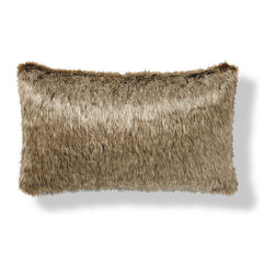 Frontgate - Luxury Faux Fur Lumbar Pillow - Part of our Luxury Faux Fur Collection that includes coordinating throws and pillows. Recreates the look of real fur without harming any animals. Fur is densely woven to 700 grams per square meter of 85% acrylic/15% polyester. Fur on both sides of the pillow. Features a seamless design with a knife-edge hem and includes a plush pillow insert. Thicker than similar faux fur pillows, our Luxury Faux Fur Lumbar Pillow replicates the irresistible softness, warmth, and luxury of real fur that you can appreciate anywhere. Whether placed on your bed, chair or sofa, this pillow adds a dash of sophisticated elegance to your home, and makes an excellent gift.. . . . . Channeled Mink color features channeled seam construction. Easy-care, machine-washable convenience. Machine wash cold, gentle cycle; line dry. Imported.