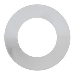 Polished Chrome Vessel Mounting Ring - This mounting ring is designed for giving your glass vessel sink an ultimate finish, setting it off of the countertop and completing the look of your final installation. Mounting rings are only compatible with round shaped sinks with flat bottoms. Removable rubber pieces are included for the top and bottom of the ring.