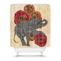 DENY Designs - DENY Designs Valentina Ramos Animals Shower Curtain - 13488-SHOCUR - Shop for Shower Curtains from Hayneedle.com! Outdone by none the DENY Designs Valentina Ramos Animals Shower Curtain brings a bit of your wild side into the bathroom. This inspiring woven polyester shower curtain features a designer print with colors that pop. Made in America this shower curtain leaves all of those boring curtains in the dust.About DENY DesignsDenver Colorado based DENY Designs is a modern home furnishings company that believes in doing things differently. DENY encourages customers to make a personal statement with personal images or by selecting from the extensive gallery. The coolest part is that each purchase gives the super talented artists part of the proceeds. That allows DENY to support art communities all over the world while also spreading the creative love! Each DENY piece is custom created as it's ordered instead of being held in a warehouse. A dye printing process is used to ensure colorfastness and durability that make these true heirloom pieces. From custom furniture pieces to textiles everything made is unique and distinctively DENY.