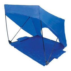 Kelsyus Solid Blue Island Shade Shack - Keep those damaging UV rays at bay with the Kelsyus Solid Blue Island Shade Shack on your side. Made from long-lasting fabric, this shade shack has a cooling-blue color and mesh back for great air circulation. The matching sand bags and stakes keep it place while the included carrying bag gets it on the go.About Swimways Based in Virginia Beach, Virginia, Swimways has one mission: make free time more fun through innovation. They provide your family with pool toys, floats, decorations, games, and even swim training gear to make sure you have no ordinary day at the pool. With over 35,000 storefronts and offices in Hong Kong and the United States, Swimways' diverse staff is dedicated to bringing you the best. Safety is their priority, helping to teach kids to swim for over 40 years with an innovative line of swim-training products. Swimways is here to help and stands by their products every step of the way.
