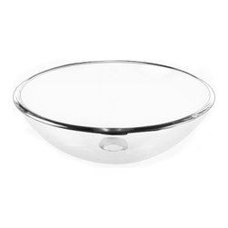 Yosemite Home Decor - Clear Round Glass Basin - Crystal clear glass bowl