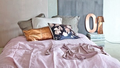 Rue Magazine · The pastels in this room are feminine, calm and...