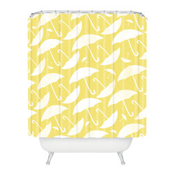 DENY Designs - Allyson Johnson Umbrella Shower Curtain - Who says bathrooms can't be fun? To get the most bang for your buck, start with an artistic, inventive shower curtain. We've got endless options that will really make your bathroom pop. Heck, your guests may start spending a little extra time in there because of it!