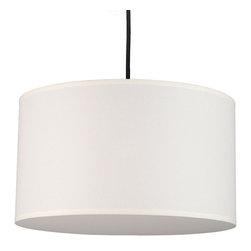Lights Up! - Meridian Medium Pendant Lamp, Natural Linen Shade - - Wattage: 77