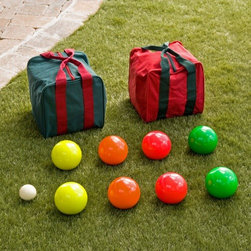 EPCO 110mm Personalized Tournament Glo Bocce Set - The fun will go on all day long with this neon bocce ball set.