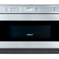 """Wolf 24"""" Drawer Microwave Oven - Designed for easy access, the drawer microwave oven coordinates with E series ovens."""