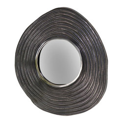 Zodax - Mauritius Raw Aluminum Wave Wall Mirror by Zodax - Mauritius Raw Aluminum Wave Wall Mirror by Zodax