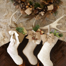 Contemporary Christmas Stockings And Holders by Horchow