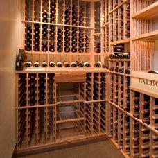 Modern Wine Cellar by Popp Littrell Architecture + Interiors