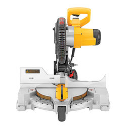Dewalt - 10In Compound Miter Saw - Two-piece aluminum and Lexan guard design protects against side impact. Lexan allows user to see the blade without the glare, providing a clean line of sight. Base handle design delivers increased comfort and portability to the end user. Positive bevel st  ops, cam lock miter handle, adjustable stainless detent plate and precise miter system. SPECIFICATIONS: 13 amp motor, 5,000 RPM, negative 3-degree to 48-degree bevel capacity, left and right miter capacity, machined base fence support, tall sliding fence   and easy access bevel lock.      This item cannot be shipped to APO/FPO addresses.  Please accept our apologies