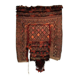 Used Large Hand Woven Wall Hanging - Get your boho on with this gorgeous hand woven vintage camel saddle blanket. Perfect for a wall hanging, adds culture, texture, color and pattern.